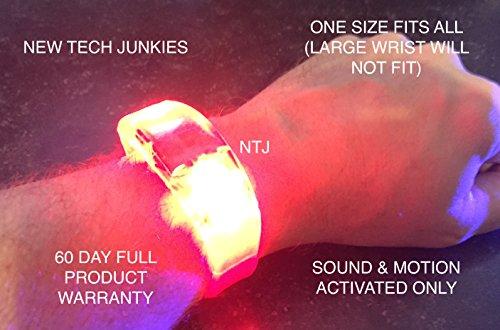 [NTJ Bracelet LED Flashing W/sound & Motion 2 1/8