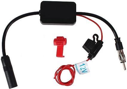 Car Stereo AM//FM Radio Signal Antenna Aerial Amp Amplifier Booster Inline Fine