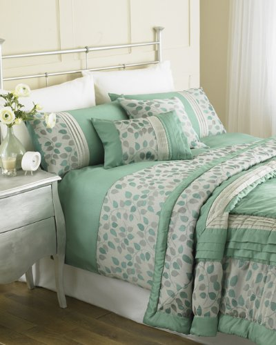 Autumn Leaves Teal Paoletti King Duvet Cover Set