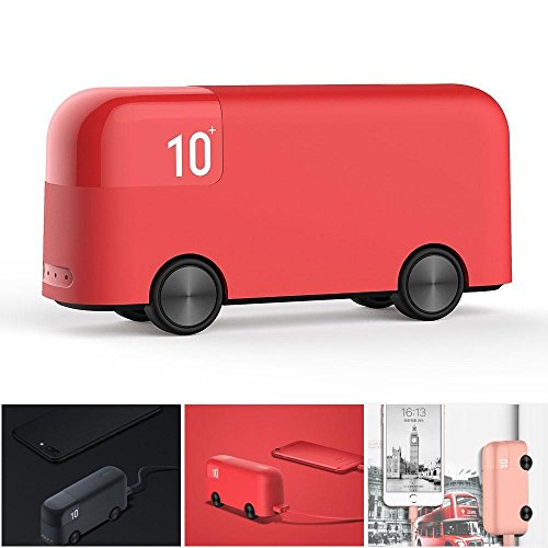 KOBWA Power Banks 10000mAh, Portable Cute London Bus Charger, High Capacity USB Battery Fast Charging for IPhone and Other Android Mobile Phones