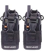2 Pack ABBREE Multi-Function Universal Nylon Case Holster Pouch Bag for Baofeng Motorola Kenwood Two Way Radio Walkie Talkie (2MSC--20D)