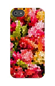 Uncommon LLC C0020-FD Floral Mosaic Roses Capsule Hard Case for iPhone 5/5S - Retail Packaging - Multicolored