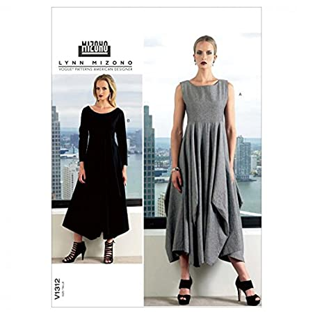 Vogue Lynn Mizono Designer Sewing Pattern 1312 Ladies Dress Sizes ...