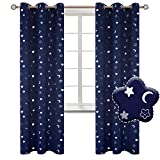BGment Moon and Stars Blackout Curtains for Boys