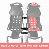 Stroller Connectors for Babyzen YOYO YOYO+ Strollers,Turns Two Single Strollers into a Double Stroller
