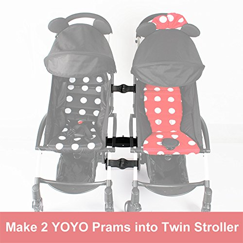 Stroller Connectors for Babyzen YOYO YOYO+ Strollers, Turns Two Single Strollers into a Double Stroller ROMIRUS YY18