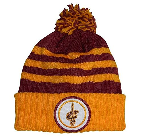 "Cleveland Cavaliers Mitchell & Ness NBA ""Quilted Crown"" Cuffed Knit Hat w/Pom"