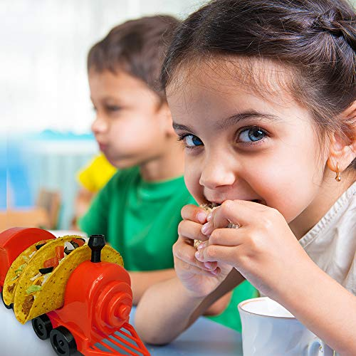Taco Train Taco Party Holder Stand - Holds 5 Tacos and Salsa - The Ultimate Gift for Kids and Adults for Fun Taco Tuesdays - Perfect for Taco Twosday Kids Birthday Party - By Fyve Global by Fyve Global (Image #4)