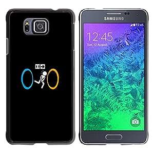 // PHONE CASE GIFT // Duro Estuche protector PC Cáscara Plástico Carcasa Funda Hard Protective Case for Samsung ALPHA G850 / Portal Toilet - Funny /