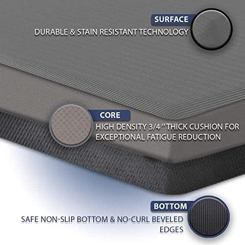 ComfiLife Anti Fatigue Floor Mat  34 Inch Thick Perfect Kitchen Mat Standing Desk Mat  Comfort at