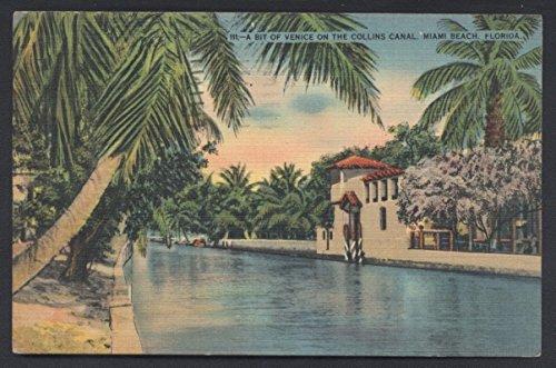 (Venice Collins Canal Miami Beach Florida Postcard)