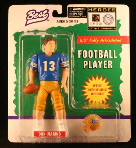 DAN MARINO / UNIVERSITY OF PITTSBURGH PANTHERS * 1997 NCAA College Football * 6.5 Inch * Best Heroes of the Gridiron Fully Articulated Action Figure & Removable Football Helmet by Starting Line Up