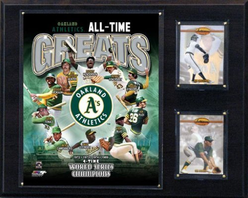 C&I Collectables MLB Oakland Athletics 12x15-Inch All Time Greats Photo Plaque