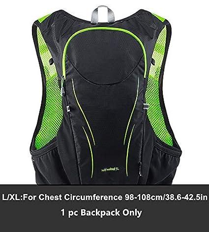 XUSHSHBA 5L Outdoor Sport Trail Running Backpack Marathon Trail Running Hydration Vest Pack for 1.5L