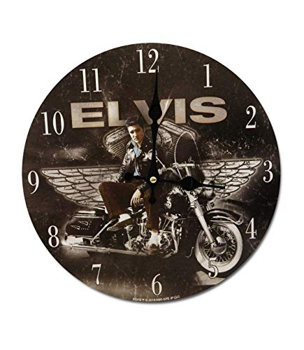 Midsouth Products Elvis Presley Clock - Elvis On Motorcycle 11.75