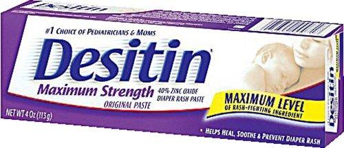 Desitin Diaper Rash Maximum Strength Original Paste, 4 Ounces (Pack of 36)