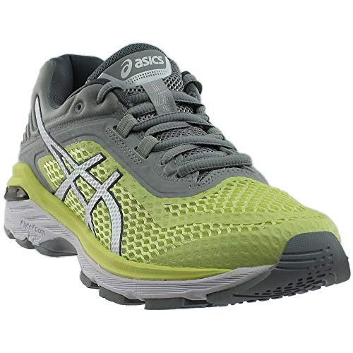 ASICS T855N Women's GT-2000 6 Running Shoe, Limelight/White/Mid Grey - 8.5 B(M) US