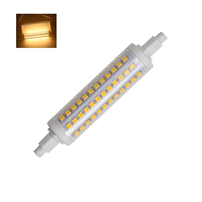 R7S Regulable Bombilla LED 118mm 10W 96 2835 SMD 3000k 360 Grados Equivalente 80W Proyector Halógenas (Blanco Cálido)