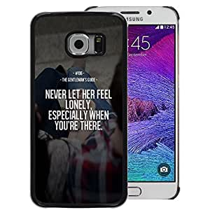 A-type Arte & diseño plástico duro Fundas Cover Cubre Hard Case Cover para Samsung Galaxy S6 EDGE (NOT S6) (Feel Lonely Her Never Love Inspiring Wife)