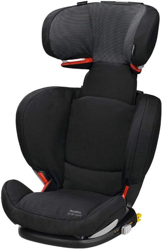 Bébé Confort RodiFix AirProtect silla de auto para niño con ISOFIX, reclinable, segura y ligera, desde los 3,5 hasta los 12 años, 15-36 kg,negro (black raven)