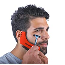 RevoBeard Beard Styling Template/Stencil for Men - Lightweight and Flexible - One Size Fits All - Curve Cut, Step Cut, Neckline & Goatee Beard Shaping Tool