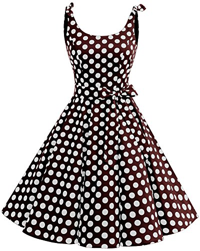 Vintage Brown Polka Dot - 5