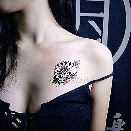 tzxdbh Impermeable Etiqueta engomada del Tatuaje del cráneo de ...