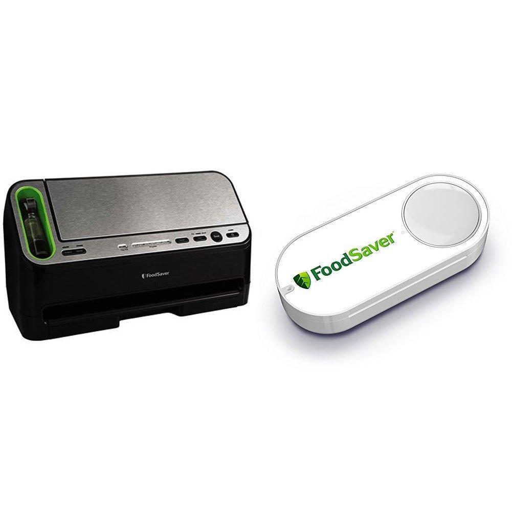 FoodSaver V4440 2-in-1 Automatic Vacuum Sealer with Built-in Handheld Sealer & Starter Kit & FoodSaver Dash Button