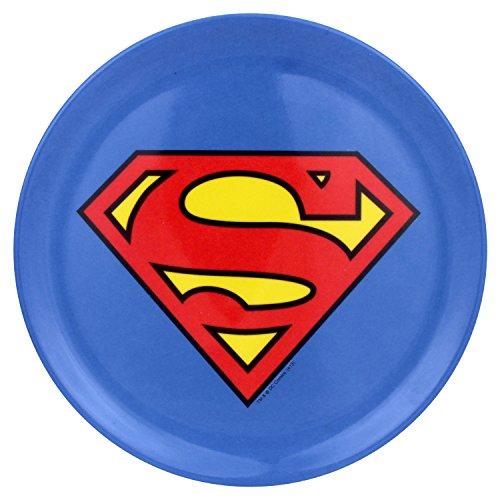 (Warner Bros. Superman Logo Plates, Multicolor, Set of 4)