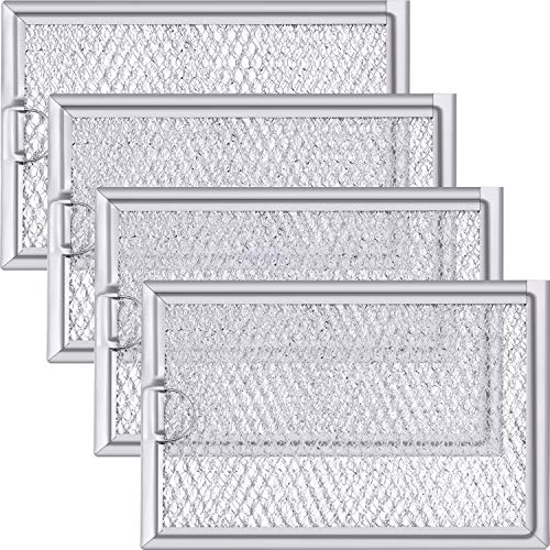 Jetec 4 Packs WB06X10654 Microwave Grease Filter Microwave Replacement Compatible with GE
