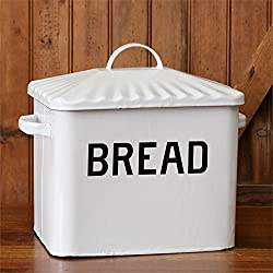 Bread Metal Box Enamelware Storage Farmhouse Country Inspired by Audrey's