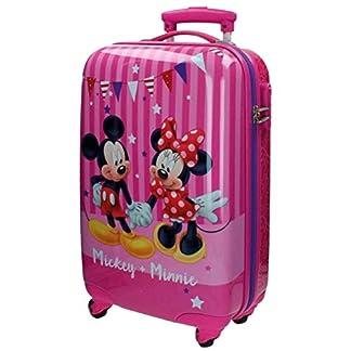 Disney Mickey & Minnie Party Equipaje Infantil, 33 Litros, Color Rosa