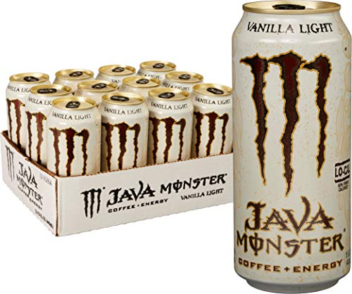 Java Monster, Vanilla Light, 15 Ounce (Pack of (Mega Pack Vanilla Flavor)