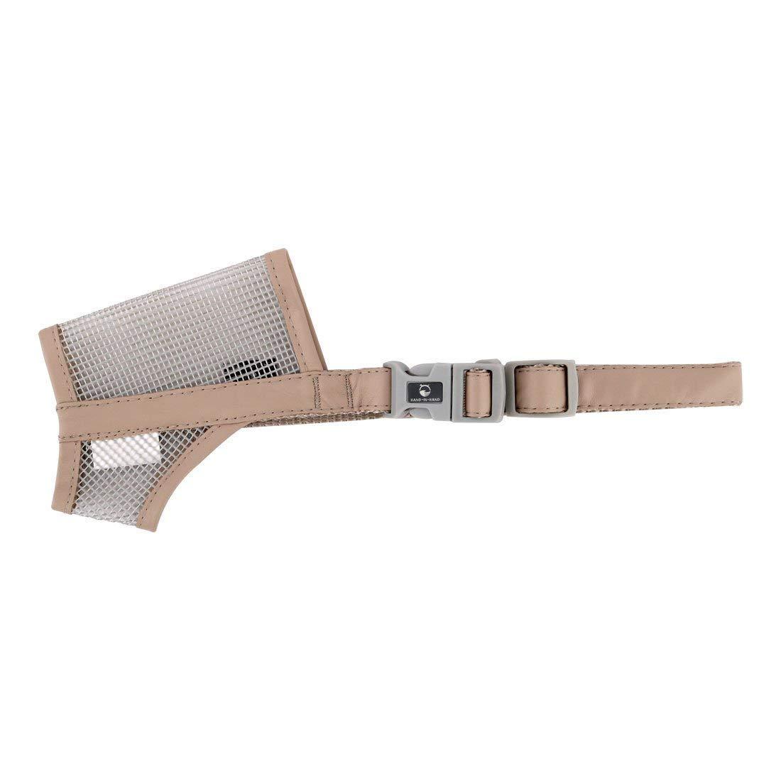 1Pc Faux Leather Edge Pet Dog Mesh Design Adjustable Belt Predector Muzzle Mouth Cover