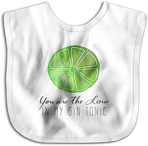 Tinberlate You Are The Lime In My Gin Tonic Quote Dribbler Baby Burp Set Bibs