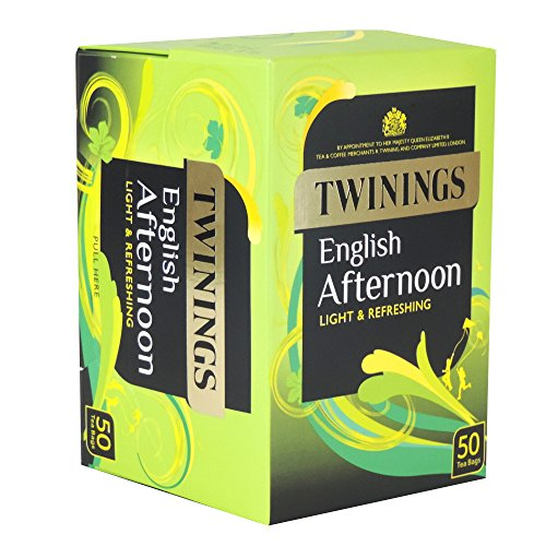 Twinings - English Afternoon Light & Refreshing 50 Bags - 125g (Case of 4)