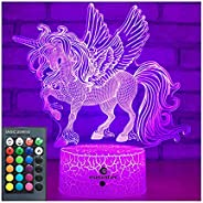 easuntec Unicorn Gifts Night Lights for Kids with Remote & Smart Touch 7 Colors + 16 Colors Changing Dimma