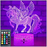 easuntec Unicorn Gifts Night Lights for Kids with Remote & Smart Touch 7 Colors + 16 Colors Changing Dimmable Unicorn...