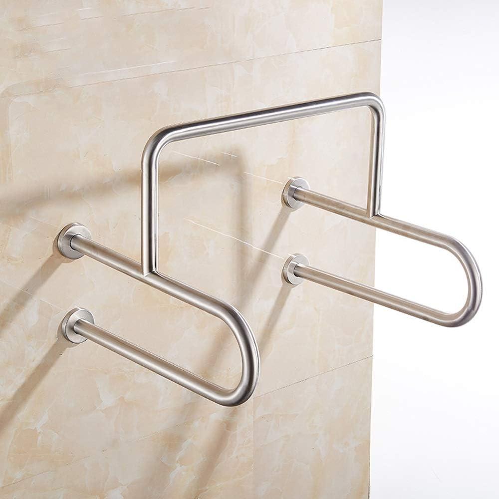 浴室の肘掛け-304ステンレス鋼の浴室の手すり、高齢者の安全滑り止めバリアフリートイレ/浴槽手すり、600 * 380mm インストールが簡単