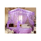 Violet Valentine's 4 Corners Lace Bed Curtain Canopy Mosquito Netting (Full/Queen)