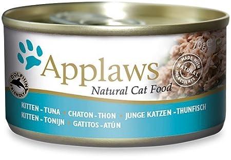 Applaws Comida húmeda con filete de atún para gatitos – 70 gr: Amazon.es: Jardín