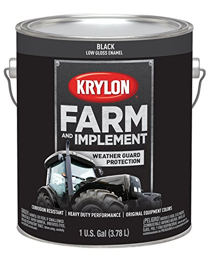 Krylon 1965 Krylon Farm & Implement Paints Low Gloss Black 128 oz. Gallon Krylon Farm & Implement Paints