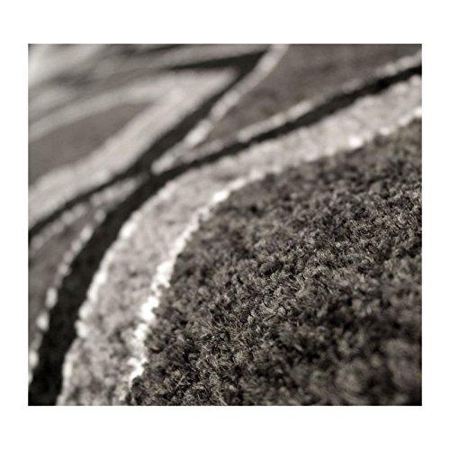 Tapis de salon contemporain TOSCANE Noir et gris 160x230cm ...