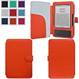 Kindle Keyboard (Kindle 3) Case,HOTCOOL Slim Premium New PU Leather Folio Cover Case For Amazon Kindle Keyboard(3th Generation), Orange