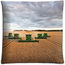 """18x18 18""""x18"""" 45x45cm throw pillow cases covers Cotton and Polyester Fabric unique john deere famous top?brand logo"""
