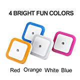 LED Night Light, CRELAND Smart Sensor Night Light 4 Colors 1W Plug in LED Night Lamp for Kids, Baby, Nursery and Bedroom - 4 Pack