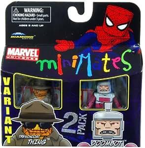Art Asylum Marvel Minimates Series 37 Mini Figure 2Pack Trenchcoat Thing Doombot Variant (disfraz)