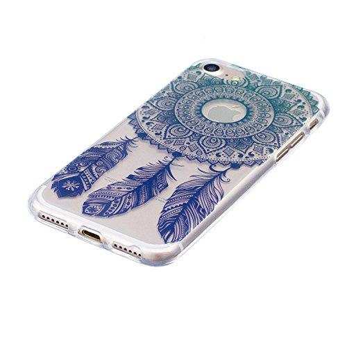 Funda iPhone 7, iPhone 7 Funda Silicona, SpiritSun Soft Carcasa Funda para iPhone 7 (4.7 pulgadas) Ultra Delgado y Ligero Flexible TPU Caja Trasparente Carcasa Case Cristal Gel Protectora Carcasa Suav Atrapasueños