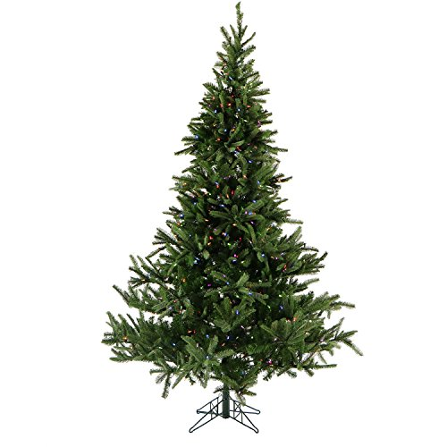 7.5 Ft. Noble Fir Pine Christmas Tree with Multi-Color LED String Lighting -