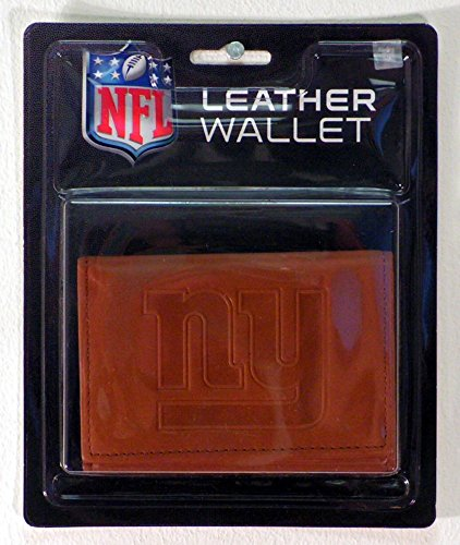 - NFL New York Giants Leather Trifold Wallet with Man Made Interior